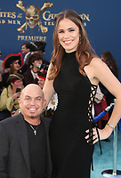 "HOLLYWOOD, CA - May 18: Martin Klebba, Michelle Dilgard, At Premiere Of Disney's ""Pirates Of The Caribbean: Dead Men Tell No Tales"" At Dolby Theatre In California on May 18, 2017. Credit: FS/MediaPunch"