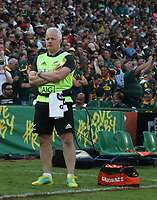 PRETORIA, SOUTH AFRICA - OCTOBER 06: Physiotherapist Peter Gallagher during the Rugby Championship match between South Africa Springboks and New Zealand All Blacks at Loftus Versfeld Stadium. on October 6, 2018 in Pretoria, South Africa. Photo: Steve Haag / stevehaagsports.com
