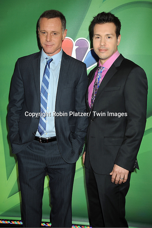 "Jason Beghe and Jon Seda of "" Chicago PD"" arrives at the NBC Upfront Presentation for 2013-2014 Season on May 13, 2013 at Radio City Music Hall in New York City."