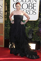 BEVERLY HILLS, CA - JANUARY 13: Debra Messing at the 70th Annual Golden Globe Awards at the Beverly Hills Hilton Hotel in Beverly Hills, California. January 13, 2013. Credit: mpi29/MediaPunch Inc. /NortePhoto
