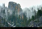 Dawn Mist in March, Yosemite Valley Rim, Yosemite National Park