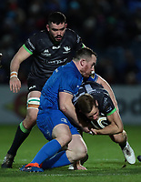 4th January 2020; RDS Arena, Dublin, Leinster, Ireland; Guinness Pro 14 Rugby, Leinster versus Connacht; Peter Dooley (Leinster) tackles Kyle Godwin (Connacht)  - Editorial Use