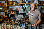 Liam Hannon from Beale, who cannot get back home to Germany where he runs a TV and Radio museum, displays some of his antique equipment.