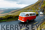 The VW Camper van festival Weekend, which was based at The Railway Tavern, Camp, pictured on the Conor Pass as part of the Saturday run on their way to Inch beach.