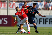 4th February 2020; National Stadium of Chile, Santiago, Chile; Libertadores Cup, Universidade de Chile versus Internacional; Sebastián Galani of Universidad de Chile and D'Alessandro of Internacional