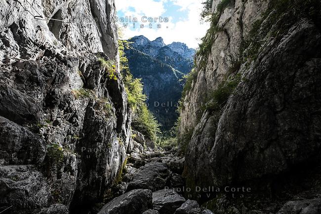 Slovenia - La Valle dell' isonzo dalle sorgenti a Caporetto. Le Sorgenti dell'Isonzo. The spring of Isonzo River