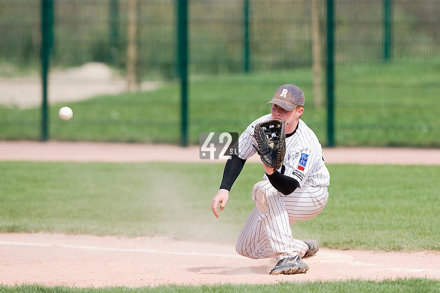 12 Aug 2007: David Gauthier is seen in action during game 5 of the french championship finals between Templiers (Senart) and Huskies (Rouen) in Chartres, France. Huskies defeated Templiers 9-8 to win their fourth french championship.