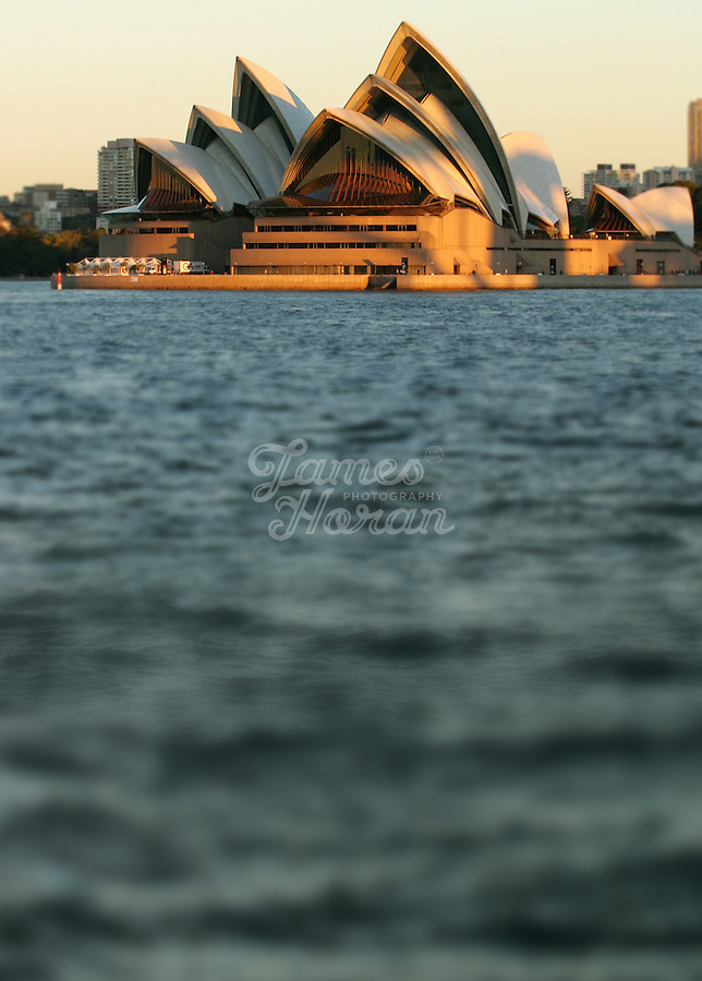 The Sydney Opera house at dusk