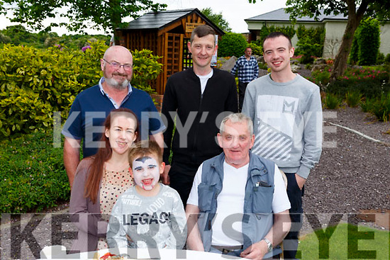 Enjoying the Dairymaster 50th Anniversary BBQ in the Ballygarry Hotel on Sunday.<br /> Seated l-r, Charlene Sweeney, Ryan O'Connor and Michael Gallagher.<br /> Back l-r, Ger O'Connor, Kieran Gallagher and Daniel O'Connor.