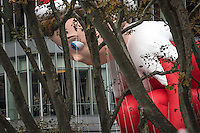 NEW YORK, NY - NOVEMBER 24:  The Elf on The Shelf balloon floats at the 90th annual Macy's Thanksgiving Day Parade near to Bryant Park ice rink on November 24, 2016 in New York City.  Photo by VIEWpress/Maite H. Mateo.