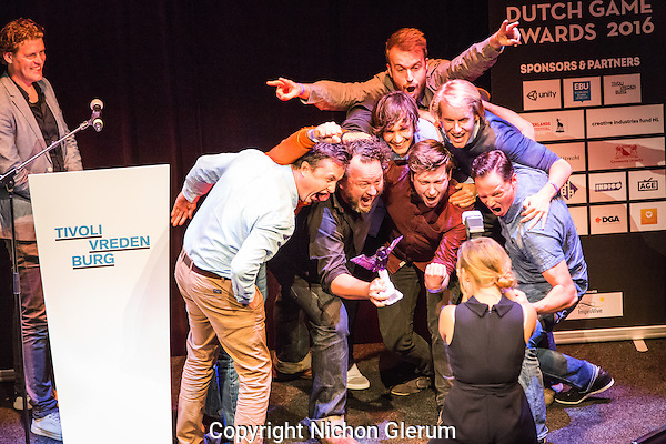 Utrecht, 27-9-2016, Nederlands Film Festival. Uitreiking Dutch Game Awards in TiVre. Photo: Nichon Glerum