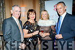 L-R Mike&Mary Mangan with Louise&John Moran at the Lee Strand social last Saturday night in the Ballygarry House hotel, Tralee.