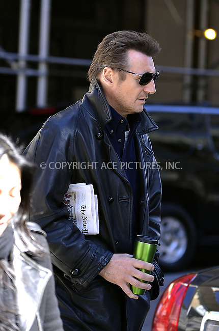 WWW.ACEPIXS.COM....March 5 2013, New York City....Actor Liam Neeson walks in Soho on March 5 2013 in New York City......By Line: Curtis Means/ACE Pictures......ACE Pictures, Inc...tel: 646 769 0430..Email: info@acepixs.com..www.acepixs.com