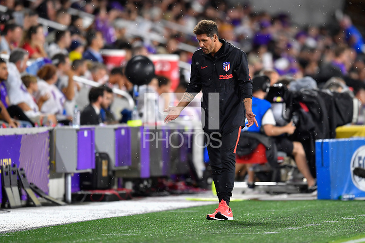 Orlando, FL - Wednesday July 31, 2019:  Diego Simeone during the Major League Soccer (MLS) All-Star match between the MLS All-Stars and Atletico Madrid at Exploria Stadium.