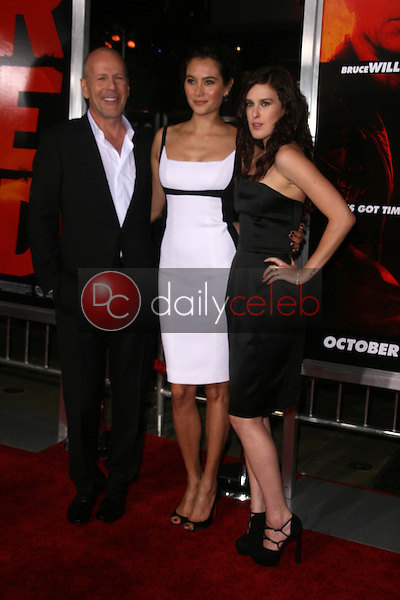 Bruce Willis, Emma Heming and Rumer Willis<br /> at the &quot;Red&quot; Los Angeles Screening, Chinese Theater, Hollywood, CA. 10-11-10<br /> David Edwards/DailyCeleb.Com 818-249-4998