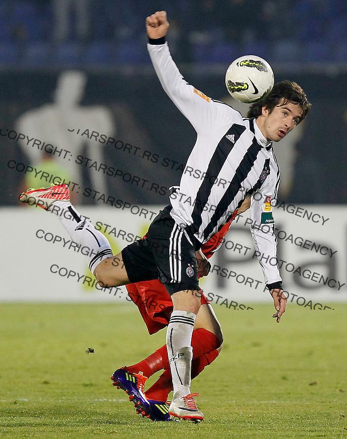 Fudbal, Jelen super liga, season 2011/2012.Partizan Vs. Radnicki 1923.Vladimir Volkov, left and Filip Kostic.Beograd, 03.11.2011..Srdjan Stevanovic/Starsportphoto ©