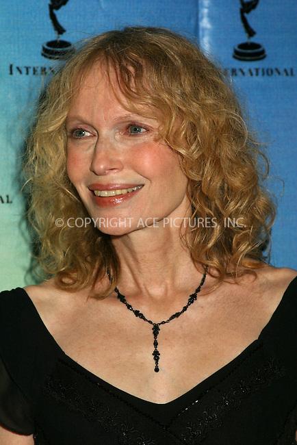 Mia Farrow at the 30th International Emmy Awards in New York. November 25, 2002. Please byline: Alecsey Boldeskul/NY Photo Press.   ..*PAY-PER-USE*      ....NY Photo Press:  ..phone (646) 267-6913;   ..e-mail: info@nyphotopress.com