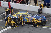 Feb 15, 2007; Daytona, FL, USA; Nascar Nextel Cup Series driver Jeff Green (66) pits during race one of the Gatorade Duel at Daytona International Speedway. Mandatory Credit: Mark J. Rebilas