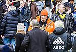 BETALBILD Solna 2015-03-07 Fotboll Allsvenskan AIK - Hammarby IF :  <br /> AIK:s Jonas Galotta p&aring; l&auml;ktaren under matchen mellan AIK och Hammarby IF <br /> (Foto: Kenta J&ouml;nsson) Nyckelord:  AIK Gnaget Friends Arena Svenska Cupen Cup Derby Hammarby HIF Bajen supporter fans publik supporters portr&auml;tt portrait
