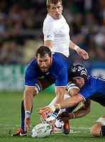 Rugby World Cup Auckland  England v France  Quarter Final 2 - 08/10/2011. Lionel Nallet (France).Photo Frey Fotosports International/AMN Images
