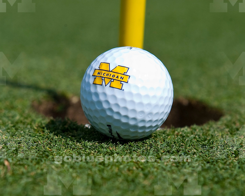 The University of Michigan men's golf team finished in fourth place after Day 1 of the Wolverine Intercollegiate at the University of Michigan Golf Course in Ann Arbor on Monday, September 12, 2011.