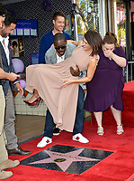 LOS ANGELES, CA. March 25, 2019: Jon Huertas, Sterling K. Brown, Mandy Moore, Justin Hartley & Chrissy Metz at the Hollywood Walk of Fame Star Ceremony honoring actress & singer Mandy Moore.<br /> Pictures: Paul Smith/Featureflash