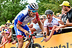 Thibaut Pinot (FRA) Groupama-FDJ fights his way up La Planche des Belles Filles at the end of Stage 6 of the 2019 Tour de France running 160.5km from Mulhouse to La Planche des Belles Filles, France. 11th July 2019.<br /> Picture: Serge Waldbillig | Cyclefile<br /> All photos usage must carry mandatory copyright credit (© Cyclefile | Serge Waldbillig)