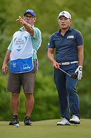 Sung Kang (USA) looks over his tee shot on 4 during round 3 of the AT&T Byron Nelson, Trinity Forest Golf Club, Dallas, Texas, USA. 5/11/2019.<br /> Picture: Golffile | Ken Murray<br /> <br /> <br /> All photo usage must carry mandatory copyright credit (© Golffile | Ken Murray)