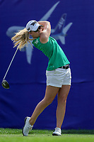 Austin Ernst hits her drive off of the 1st tee during Round 3 at the ANA Inspiration, Mission Hills Country Club, Rancho Mirage, Calafornia, USA. {03/31/2018}.<br />