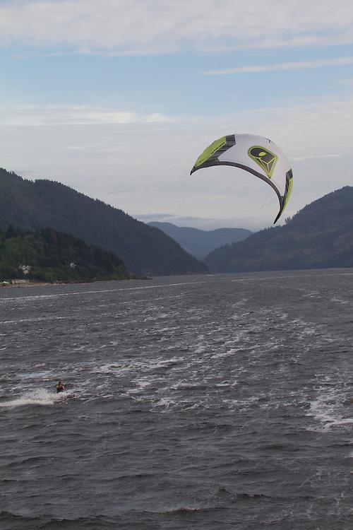 Vancouver Island, Port Alberni, kite sailing,  British Columbia, Canada,