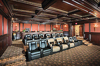 Incredible Huge Home Theater With Reclining Seats