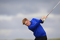 Eanna Griffin (Waterford) on the 9th tee during Round 2 of The East of Ireland Amateur Open Championship in Co. Louth Golf Club, Baltray on Sunday 2nd June 2019.<br /> <br /> Picture:  Thos Caffrey / www.golffile.ie<br /> <br /> All photos usage must carry mandatory copyright credit (© Golffile   Thos Caffrey)