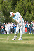 Sebastian Soderberg (SWE) in action on the 12th hole during final round at the Omega European Masters, Golf Club Crans-sur-Sierre, Crans-Montana, Valais, Switzerland. 01/09/19.<br /> Picture Stefano DiMaria / Golffile.ie<br /> <br /> All photo usage must carry mandatory copyright credit (© Golffile | Stefano DiMaria)