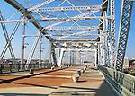 The Shelby Street Bridge in Nashville, TN used as a pedestrian walking bridge.