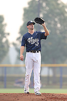 Tyler Bolton (27) of the Hillsboro Hops pitches during a game against the Boise Hawks at Ron Tonkin Field on August 22, 2015 in Hillsboro, Oregon. Boise defeated Hillsboro, 6-4. (Larry Goren/Four Seam Images)