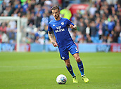 30th September 2017, Cardiff City Stadium, Cardiff, Wales; EFL Championship football, Cardiff City versus Derby County; Joe Bennett of Cardiff City on the ball