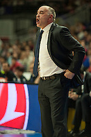 Real Madrid´s Pablo Laso during 2014-15 Euroleague Basketball match between Real Madrid and Anadolu Efes at Palacio de los Deportes stadium in Madrid, Spain. December 18, 2014. (ALTERPHOTOS/Luis Fernandez) /NortePhoto /NortePhoto.com