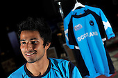 Excited at the prospect of pulling on a full Scotland team shirt for the first time, if selected - Clydesdale spinner Zeeshan Bashir, who has joined the Scotland squad (to replace the injured Gregor Maiden) for the remaining three matches of the ICC World Cricket League, Div 1, currently underway in the Netherlands  - Picture by Donald MacLeod 06.07.10 - mobile 07702 319 738 - clanmacleod@btinternet.com