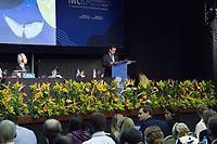 FLORIANÓPOLIS, SC, 10.09.2018 - IWC-SC - Edson Duarte ministro do Meio Ambiente fala na 67ª reunião anual de Membros da IWC (International Whaling Commission) em Florianópolis nesta segunda-feira 10.  (Foto: Naian Meneghetti/Brazil Photo Press)