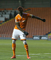 Blackpool's Armand Gnanduillet celebrates scoring the opening goal by doing the Floss<br /> <br /> Photographer Stephen White/CameraSport<br /> <br /> The EFL Sky Bet League One - Blackpool v Burton Albion - Saturday 24th November 2018 - Bloomfield Road - Blackpool<br /> <br /> World Copyright © 2018 CameraSport. All rights reserved. 43 Linden Ave. Countesthorpe. Leicester. England. LE8 5PG - Tel: +44 (0) 116 277 4147 - admin@camerasport.com - www.camerasport.com