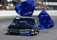 May 16, 2014; Commerce, GA, USA; NHRA pro mod driver Clint Satterfield during qualifying for the Southern Nationals at Atlanta Dragway. Mandatory Credit: Mark J. Rebilas-USA TODAY Sports