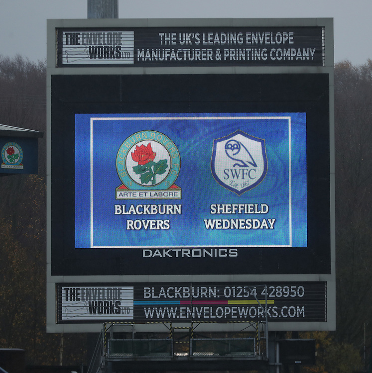 General View Ewood Park - Blackburn<br /> <br /> Photographer Rachel Holborn/CameraSport<br /> <br /> The EFL Sky Bet Championship - Blackburn Rovers v Sheffield Wednesday - Saturday 1st December 2018 - Ewood Park - Blackburn<br /> <br /> World Copyright &copy; 2018 CameraSport. All rights reserved. 43 Linden Ave. Countesthorpe. Leicester. England. LE8 5PG - Tel: +44 (0) 116 277 4147 - admin@camerasport.com - www.camerasport.com