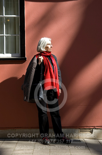 Donna Leon, crime writer, on Magpie Lane, Oxford, during the Sunday Times Oxford Literary Festival, UK, 24 March - 1 April 2012. ..PHOTO COPYRIGHT GRAHAM HARRISON .[NI Contributor No : 510928] graham@grahamharrison.com.+44 (0) 7974 357 117.Moral rights asserted.