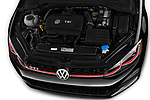 Car stock 2018 Volkswagen Golf GTI SE 5 Door Hatchback engine high angle detail view
