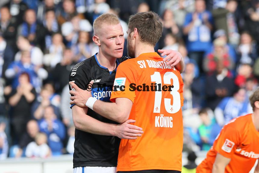 Tom Breugelsdijk (FSV)  und Ronny Koenig (SV98) - FSV Frankfurt vs. SV Darmstadt 98, Frankfurter Volksbank Stadion