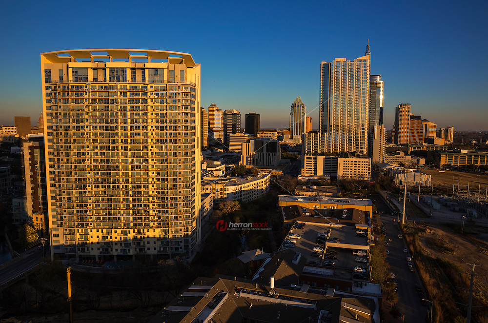 Condo living in downtown Austin, Texas offers incredible skyline views due to the every growing Austin real-estate market upturn in 2013.