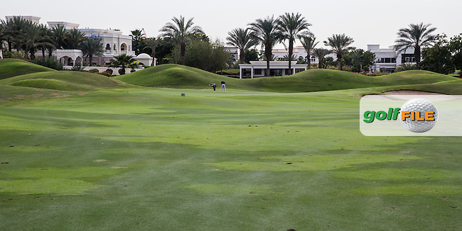 5th fairway at The Address Montgomerie Golf Club, Dubai, United Arab Emirates.  27/01/2016. Picture: Golffile | David Lloyd<br /> <br /> All photos usage must carry mandatory copyright credit (&copy; Golffile | David Lloyd)