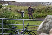 Random Photographer, Lindisfarne Priory; Holy Island village