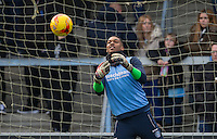 Goalkeeper Jamal Blackman of Wycombe Wanderers ahead of the Sky Bet League 2 match between Wycombe Wanderers and Yeovil Town at Adams Park, High Wycombe, England on 14 January 2017. Photo by Andy Rowland / PRiME Media Images.
