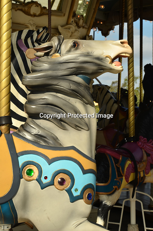 Stock photo of carousel horse